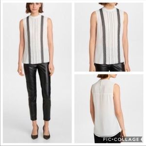 Karl Lagerfeld Paris Lace-Accent Sleeveless Blouse